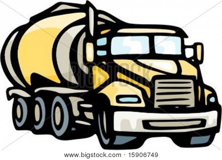 Concrete mixer truck. Check my portfolio for many more images of this series.