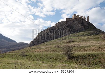 Remnants of a once great castle in Transylvania.
