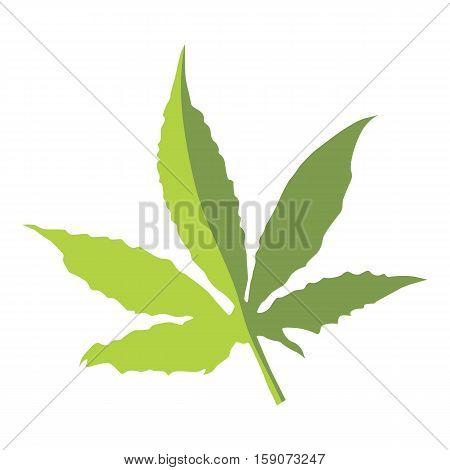 Marijuana leaf icon. Flat illustration of marijuana leaf vector icon for web design