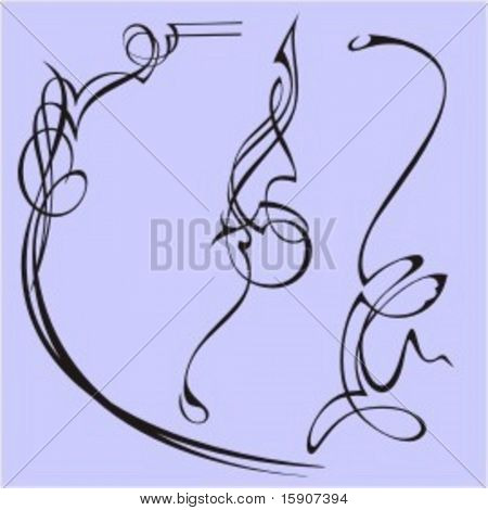 Exquisite Design Elements 23 (Vector) Very clean and exquisite design elements of ornamental type.  Very clean vectors!