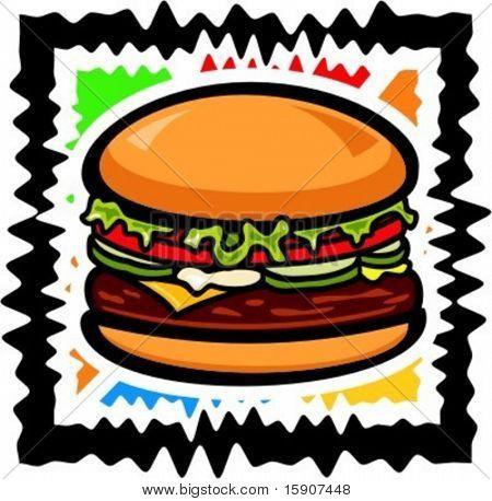Vector illustration of a hamburger.