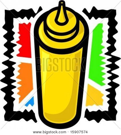 A vector illustration of a mustard.