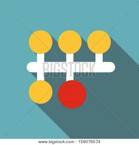 Gear switching icon. Flat illustration of gear switching vector icon for web design
