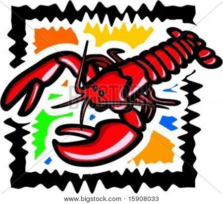 Lobster.  Vector illustration.