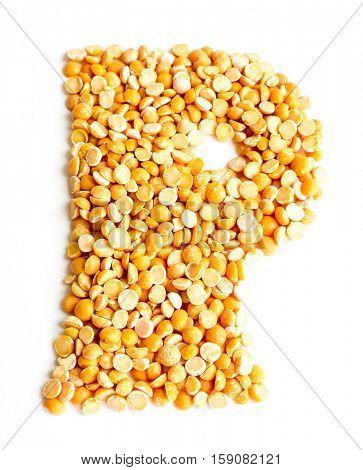 The peas Initials letter P.