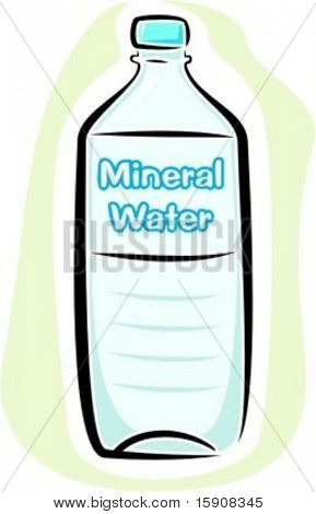 Mineralwasser.Vektor-illustration