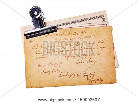 Vintage Postcards With Handwriting Text