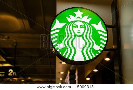 Bangkok Province, Thailand - Oct 04, 2016 :Starbucks Coffee. Starbucks is the largest coffeehouse company in the world, with 20,891 stores in 62 countries.