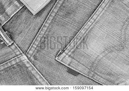 Denim texture. Denim background. Denim jeans. Denim fabric. Denim Surface. Blue jeans. Jeans texture. Jeans background. Jeans fabric. Jeans textile. Old denim jeans. Dark edged black and white