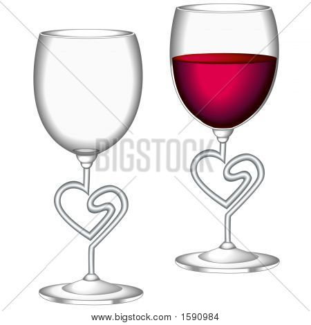 Wine Glasses Heart