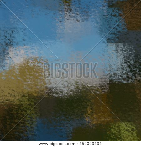 blurred abstract background of colored spots blue