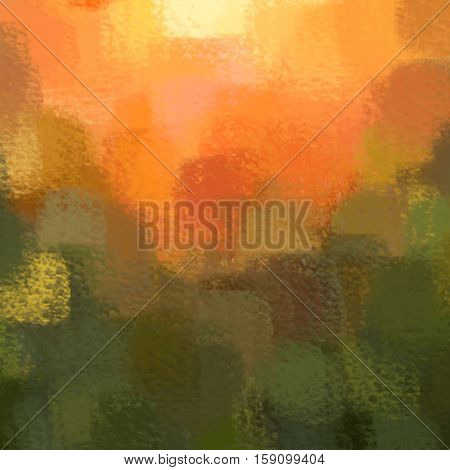 blurred abstract background of colored spots orange green