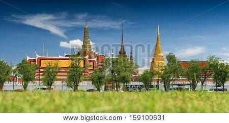 Wat Phra Kaew Temple of the Emerald Buddha Bangkok Thailand.