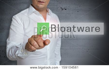 Bloatware browser is operated by man concept.
