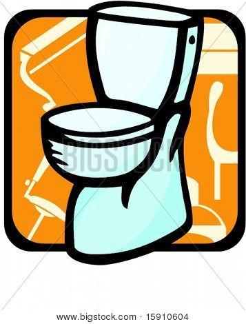 Toilet.Pantone colors.Vector illustration