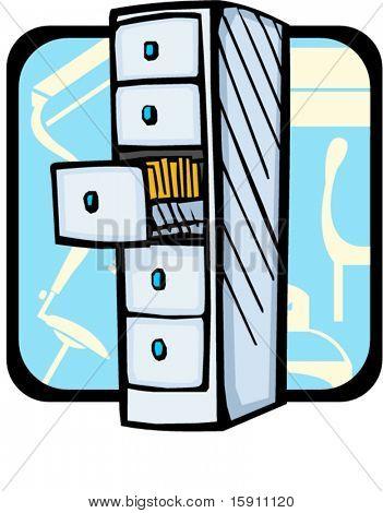 Bookcase.Pantone colors.Vector illustration