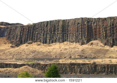 Basalt Columns In The Columbia Gorge