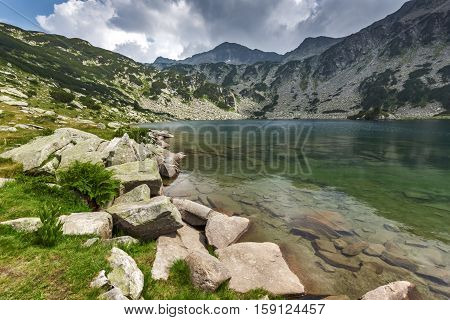 Amazing Landscape of Banderishki Chukar Peak and The Fish Lake, Pirin Mountain, Bulgaria