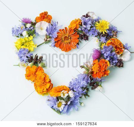 nice live symbol of love of wildflowers