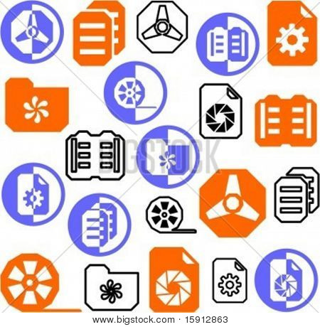Eine Reihe von 21 multimedia Icons. Prüfen Sie mein Portfolio für viele weitere Bilder dieser Serie.
