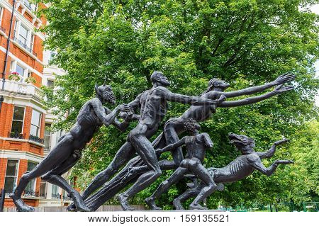 Pan Statue At Hyde Park In London