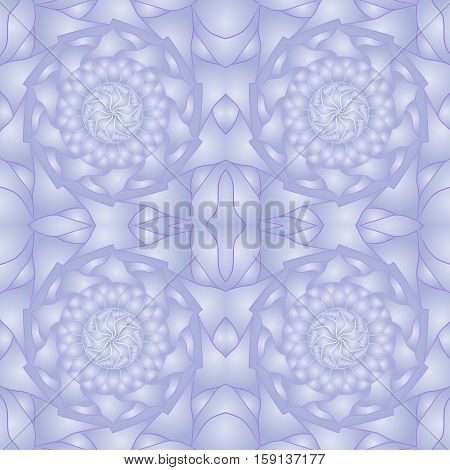 Seamless abstract ornament, stencil round pattern, cut out design, decor element, vector illustration