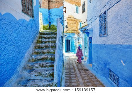 Beautiful Blue Medina Of Chefchaouen, Morocco
