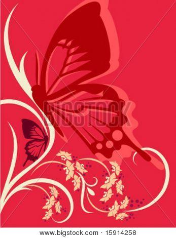 Vektor-Hintergrund mit floralen Ornamente.