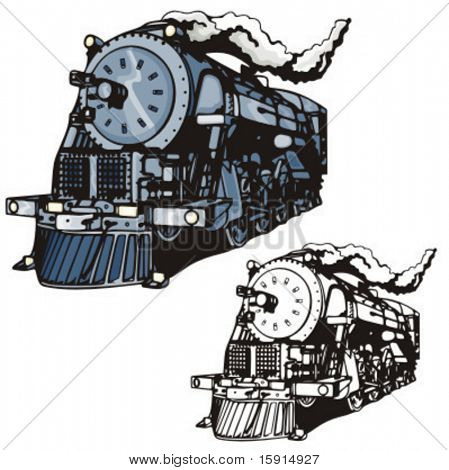 Illustration of a steam locomotive.