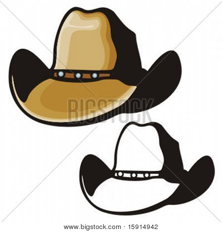Ilustração de um chapéu de cowboy.