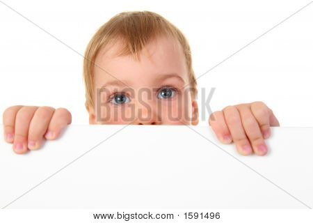 Baby With Space For Text