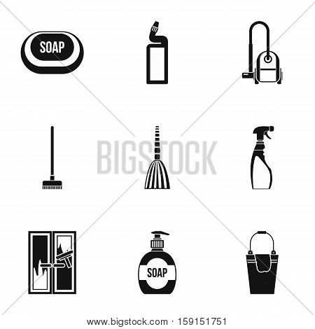 Cleansing icons set. Simple illustration of 9 cleansing vector icons for web