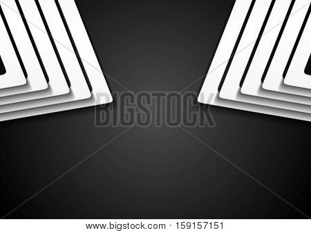 Abstract black and white tech modern background