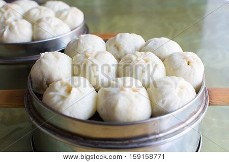 Steamed Chinese Meat Buns Baozi