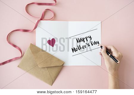 Happy Mother Day Celebrating Enjoyment Concept