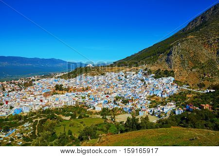 Chefchaouen, Town Known For Its Blue Houses