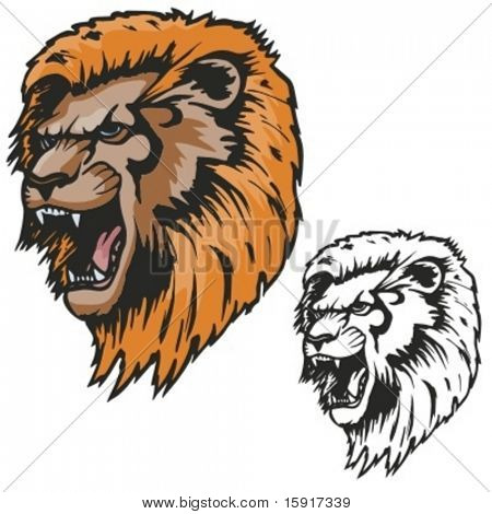 Lion Mascot for sport teams. Great for t-shirt designs, school mascot logo and any other design work. Ready for vinyl cutting.