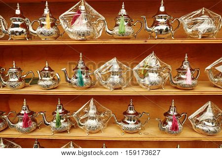 Selection Of Traditional Moroccan Teapots