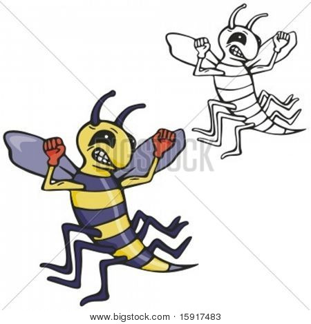 Bee Boxing Mascot for sport teams. Great for t-shirt designs, school mascot logo and any other design work. Ready for vinyl cutting.