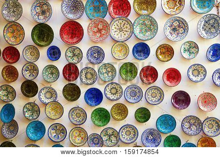 Traditional Ceramics On Moroccan Market