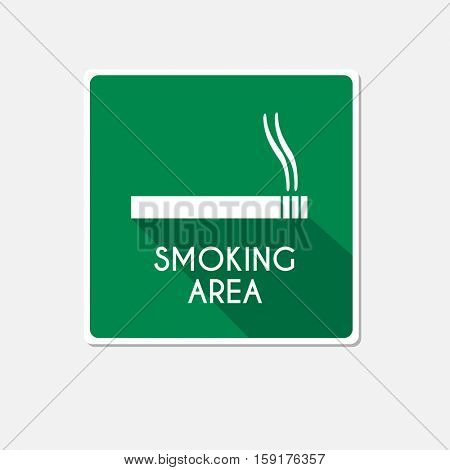 Smoking area illustration on a white background