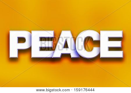 Peace Concept Colorful Word Art