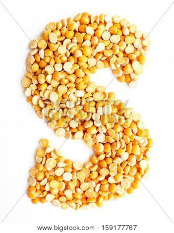 The peas Initials letter S.