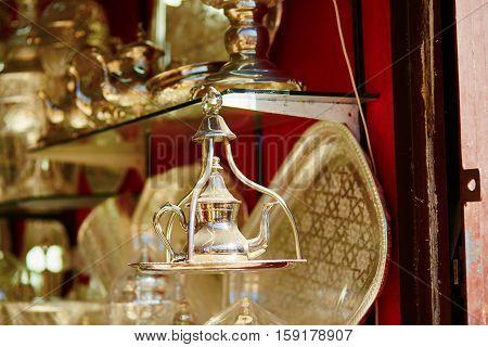Teapot On Moroccan Market