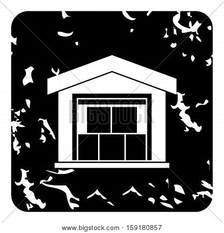 Warehouse icon. Grunge illustration of warehouse vector icon for web