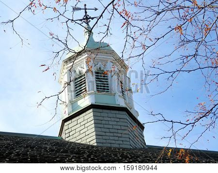 Tower of the Trinity College at University of Toronto in Toronto Canada November 18 2016