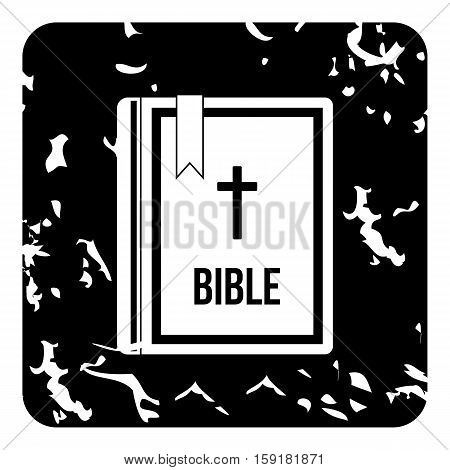 Bible icon. Grunge illustration of Bible vector icon for web