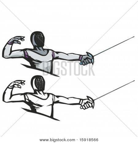 Fencer vector illustration.