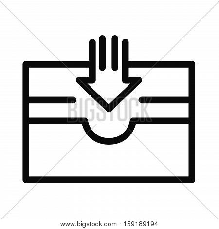 mailbox tray vector illustration design eps 10