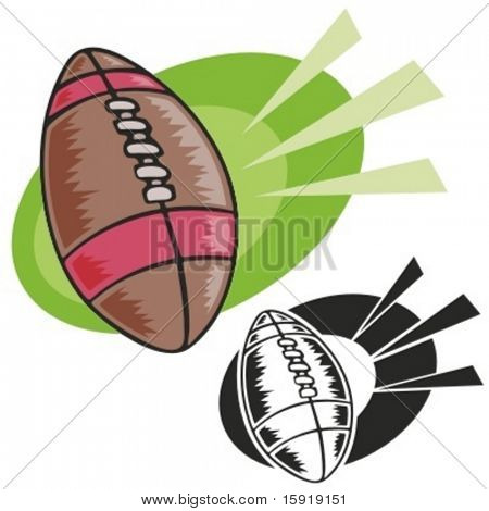 American football. Vector illustration